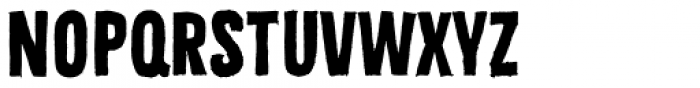 Bellfort Draw Rough Bold Font LOWERCASE