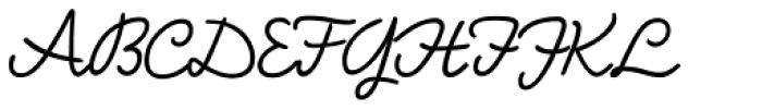 Bellfort Script Light Font UPPERCASE