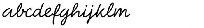 Bellfort Script Light Font LOWERCASE