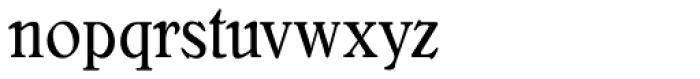 Bellini Condensed RR Original Font LOWERCASE