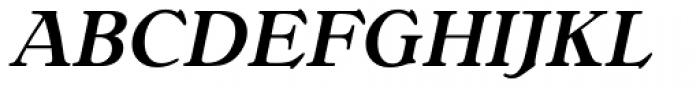 Bellini RR Medium Italic Font UPPERCASE
