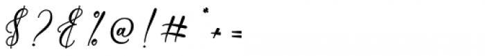 Bellisia Bold Script Font OTHER CHARS