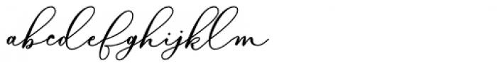Bellisia Bold Script Font LOWERCASE
