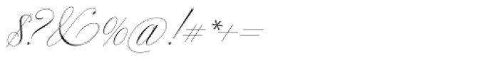 Bellissima Script Redux Font OTHER CHARS