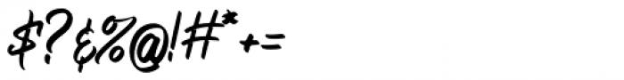 Bellsmore Brush Bellsmore Brush Regular Font OTHER CHARS