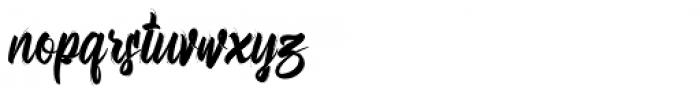 Bellsmore Brush Bellsmore Brush Regular Font LOWERCASE