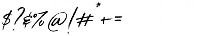 Belluga Slanted Font OTHER CHARS
