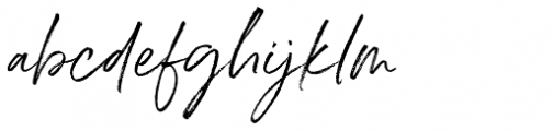 Belluga Slanted Font LOWERCASE