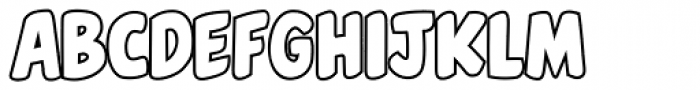 Belly Laugh Outline Font LOWERCASE