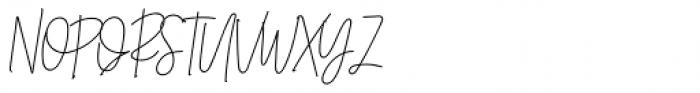 Belmont Italic Font UPPERCASE
