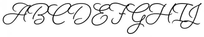 Beloved Script Basic Bold Font UPPERCASE