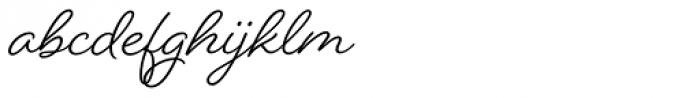 Beloved Script Basic Bold Font LOWERCASE
