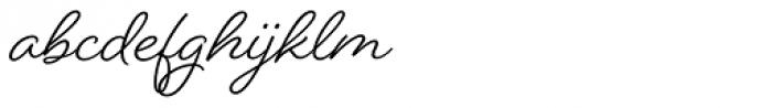 Beloved Script Bold Font LOWERCASE