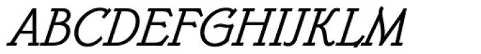 Belwe Mono Italic Font UPPERCASE