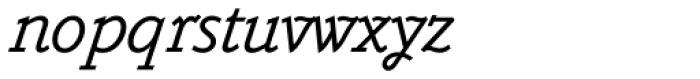 Belwe Mono Italic Font LOWERCASE