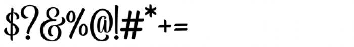 Belymon Script Regular Font OTHER CHARS