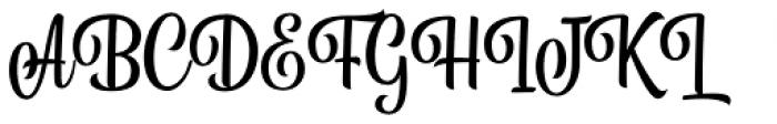 Belymon Script Regular Font UPPERCASE