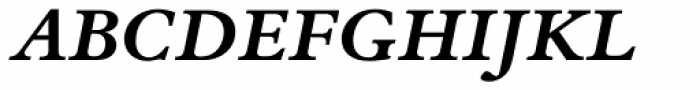 Bembo Book Pro Bold Italic Font UPPERCASE