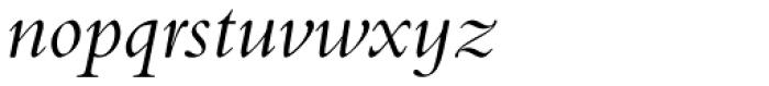 Bembo Std Infant Italic Font LOWERCASE