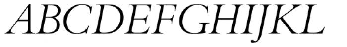 Bembo Std Titling Italic Font UPPERCASE