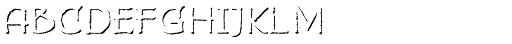 Bemol Caps Shadow Font LOWERCASE