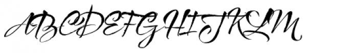 Bemol Script Font UPPERCASE
