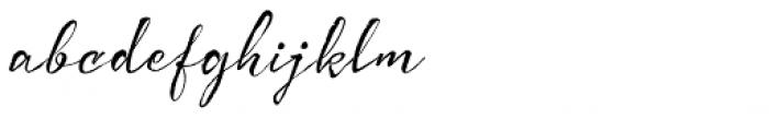 Bemol Script Font LOWERCASE