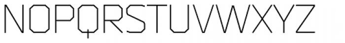 Bender Light Font UPPERCASE