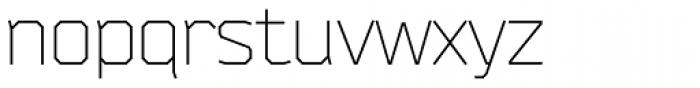 Bender Light Font LOWERCASE