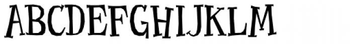 Benderville Font UPPERCASE