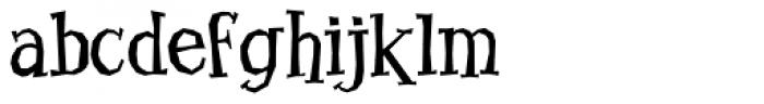 Benderville Font LOWERCASE