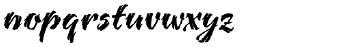 Bendigo Font LOWERCASE