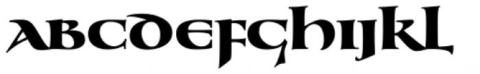 Benedict Uncial Regular Font LOWERCASE