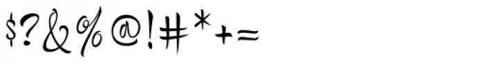 Bengala Script Font OTHER CHARS