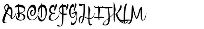 Bengala Script Font UPPERCASE