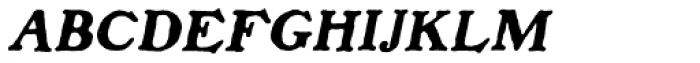 Benjamin Franklin Italic Font UPPERCASE