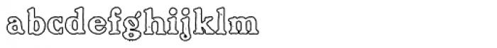 Benjamin Franklin Outline Font LOWERCASE