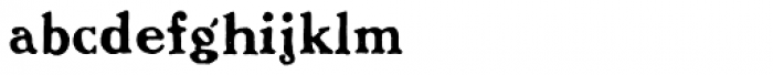 Benjamin Franklin Font LOWERCASE