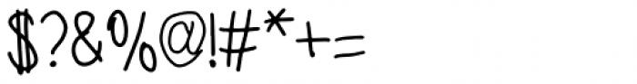 Benjammin' Regular Font OTHER CHARS