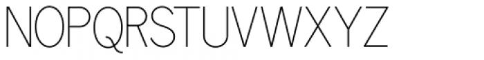 Benton Gothic Thin NF Font UPPERCASE