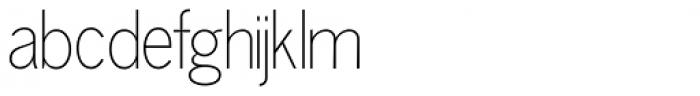 Benton Gothic Thin NF Font LOWERCASE