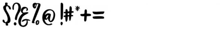 Bentonite Script Regular Font OTHER CHARS