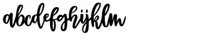 Bentonite Script Regular Font LOWERCASE
