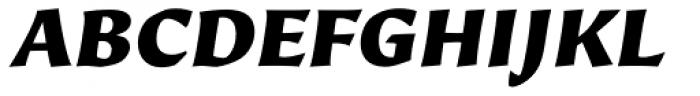 Beorcana Pro Black Italic Font UPPERCASE