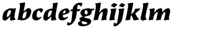 Beorcana Pro Black Italic Font LOWERCASE