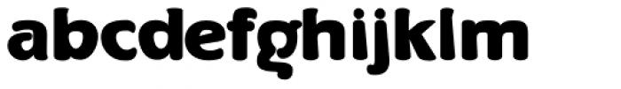 Bergsland Round Black Font LOWERCASE