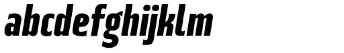 Beriot Bold Condensed Italic Font LOWERCASE