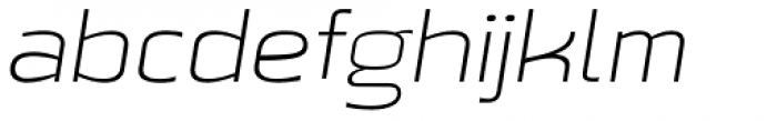 Beriot Thin Expanded Italic Font LOWERCASE