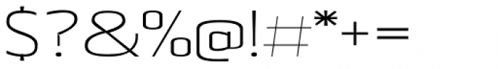 Beriot Thin Expanded Font OTHER CHARS