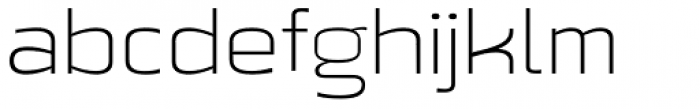 Beriot Thin Expanded Font LOWERCASE